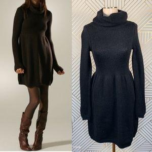 Vince Black Turtleneck Sweater Casual Dress